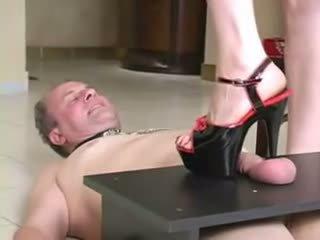 Bizarre dominatrix extreme balls torture