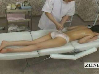 Subtitled cmnf enf जपानीस टीन स्कूलगर्ल आस मसाज
