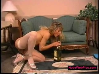 Big Tit Blonde Fucks Bottle