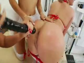 Extra Footage Of 3 Horny Anal Sluts Playing With Large Toys