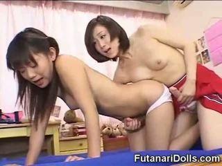 japansk, liten, futanari