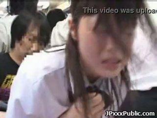 Sexy japansk tenåringer faen i offentlig places 30
