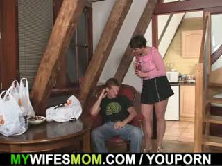Mywifesmom seduces son-in-law