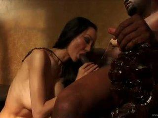 Ange venus laten bald zwart guy lik haar kut