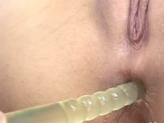 Fingers and Dildos deep in her asian anus