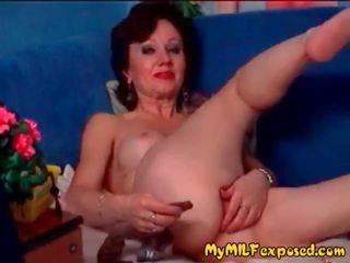 My MILF Exposed Hairy Amateur Granny Playing with.