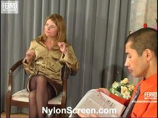 real almacenamiento sexo caliente, nylon slips and sex, fresco sex and nylon stockings caliente