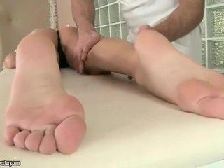Erica Fontes enjoys foot fucking