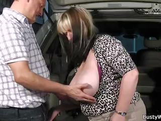 Hot Blowjob, Titjob and Sex for Her Boss