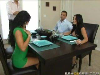 Husbands swap 부인들 이전 에 dinner
