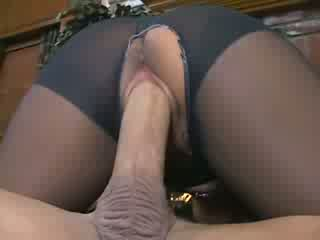 Busty Jenaveve Jolie fucking in pantyhose with a ripped out crotch and heels