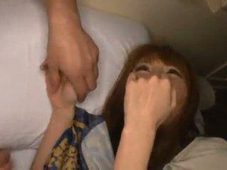 Miku ohashi admires 该 fellow 圆 她的 不错 shagging skills