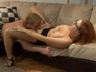 Redhairy Girl with Amazing Body and Saggy Tits: Porn e4