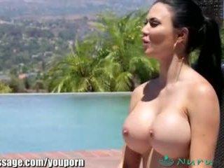 nuru, huge tits, british