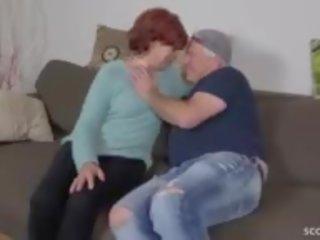 cum į burną, senelė, močiutė