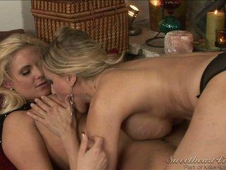 sesso lesbico, reale seno grande, più caldo lesbica