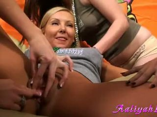 lesben, sex-party, all cream in pussy