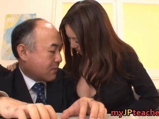 Busty Teacher Ruri Saijo Bounces