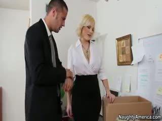 große brüste, blowjob, blondine