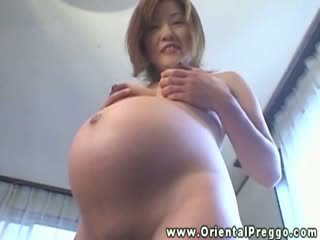 asian preggy lady gets her Melons and ...