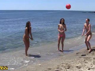 College seks impreza pod the słońce heat z the plaża