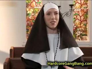 brunette, sexe de groupe, pipe
