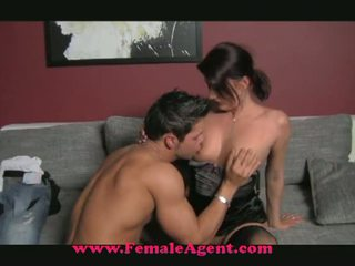 Female Agent: Horny milf fucks on casting