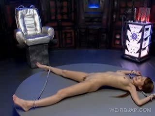 Asian Sex Slave Gets Hot Assets Licked While In Chains