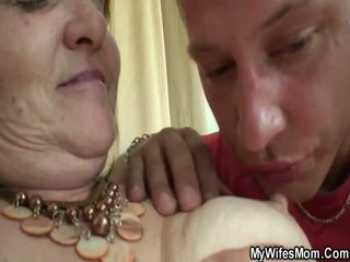 Old Lady Forces Young Boy And Fuck