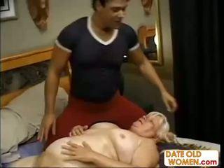 babunia, masaż, dojrzały