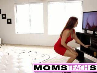 Step mom fucks son in hot threesome sex tape