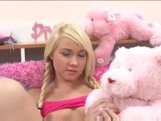 Süß blond teen alexa skye gets es auf mit ein rallig dude video