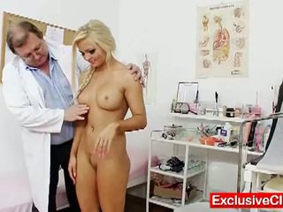 Nicky angel in a gyno exam by horny doctor
