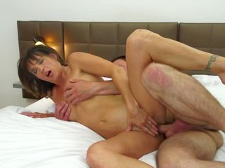 Mature Wife Cheating with Young Boy in...