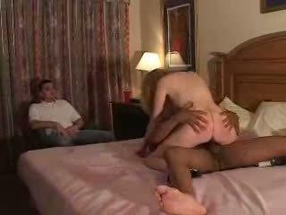 Couples proberen eerste tijd fliming hoorndrager ervaring met bull