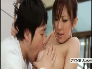 ใหญ่ titty ญี่ปุ่น sultress harumi asano has แตง suckled