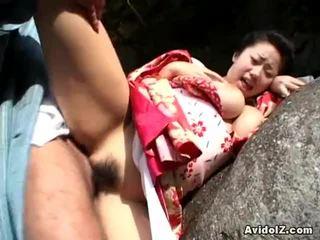 Chichihime 과 그녀의 조끼 내부 기괴한 코스프레 열린 공기 빌어 먹을