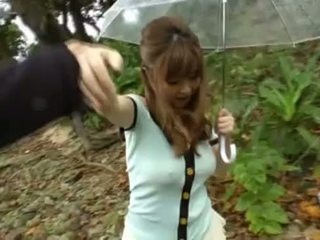 Rio hamasaki gets pounded outdoors