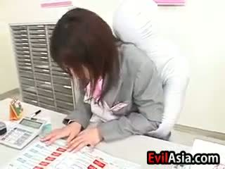 Asian Girl With An Invisible Man