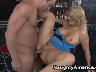 Delightful blond robbye bentley gets banged