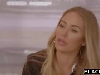 Blacked nicole aniston is double teamed door bbc op haar