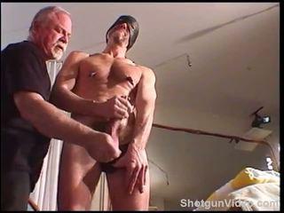 Siksaan alat kelamin pria hung dude jacks sebagai saya bash dia buah zakar.