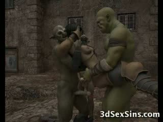 Ogres homosexual panas 3d babes!