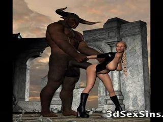 Scary creatures اللعنة 3d الفتيات!