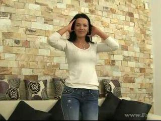 Skanky Shalina fucked with fake agent