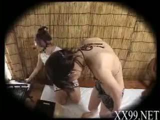 babes, massage, châu á