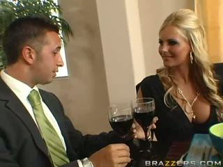 Niesamowite cycate blondynka żona z duży tyłek gets dupek toyied z a szkło dildo