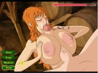 Hentai sex game Nami punish a boy (One Piece)