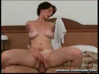 brunette, fucking, homemade