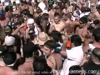 Insane spring breuk strand party met heet naakt echt meisjes